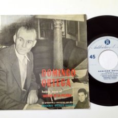 Discos de vinilo: DOMINGO ORTEGA - HABLA PARA EL ARCHIVO DE LA PALABRA 3 (1961) - DISCO DE VINILO, SINGLE, RARO - LEÓN. Lote 183990815