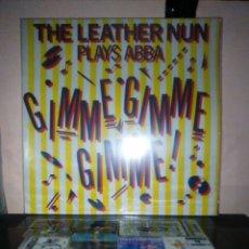 Discos de vinilo: THR LEATHER NUN - GIMME GIMME GIMME. Lote 184000243