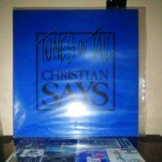 Discos de vinilo: TONES ON TAIL - CHRISTIAN SAYS. Lote 184001230