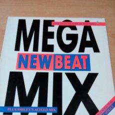 Discos de vinilo: NEW BEAT MEGAMIX - BUEN ESTADO - VER FOTOS . Lote 184013902