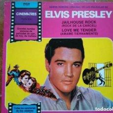 Discos de vinilo: ELVIS PRESLEY - JAILHOUSE ROCK Y LOVE ME TENDER BSO (LP). Lote 184021800