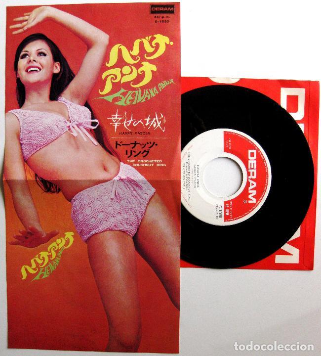 Discos de vinilo: Crocheted Doughnut Ring - Havana Anna / Happy Castle - Single Deram 1968 Japan BPY - Foto 3 - 184021928