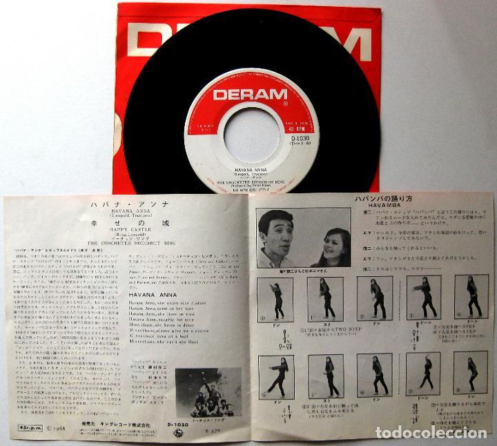 Discos de vinilo: Crocheted Doughnut Ring - Havana Anna / Happy Castle - Single Deram 1968 Japan BPY - Foto 4 - 184021928