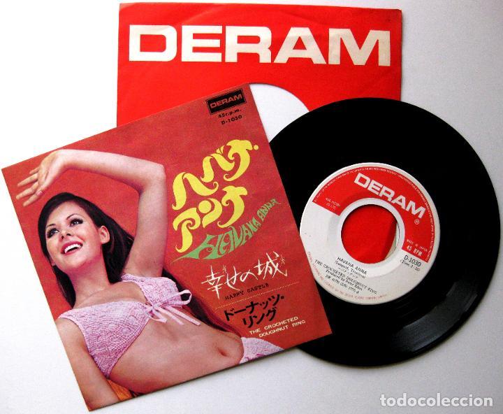 CROCHETED DOUGHNUT RING - HAVANA ANNA / HAPPY CASTLE - SINGLE DERAM 1968 JAPAN BPY (Música - Discos - Singles Vinilo - Pop - Rock Extranjero de los 50 y 60)