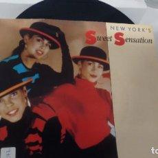 Discos de vinilo: SINGLE ( VINILO) DE NEW YORK´S SWEET SENSATION AÑOS 90. Lote 184024442