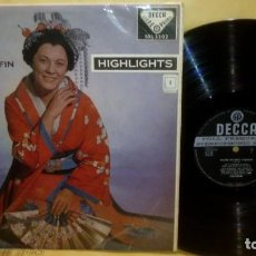 Discos de vinilo: PUCCINI - MADAMA BUTTERFLY HIGHLIGHTS . Lote 184030400