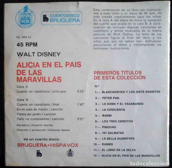 Discos de vinilo: Alicia en el País de las Maravillas - Cuentodisco Bruguera - Foto 3 - 184034825