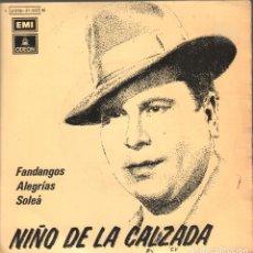 Discos de vinilo: NIÑO DE LA CALZADA TODOS DICEN QUE ERES MALA / HICE JURAMENTO UN DIA ...EP ODEON DE 1973 RF-4195 . Lote 184038938