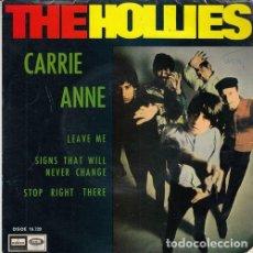 Discos de vinilo: THE HOLLIES - CARRIE ANNE - EP ESPAÑOL DE VINILO #. Lote 184040791