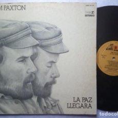 Discos de vinilo: TOM PAXTON - LA PAZ LLEGARA - LP ESPAÑOL 1973 PORTADA DOBLE - REPRISE. Lote 184043387