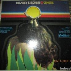 Discos de vinilo: DELANEY & BONNIE - GENESIS LP - ORIGINAL U.S.A. - CRESCENDO RECORDS 1971 - STEREO -. Lote 184055308