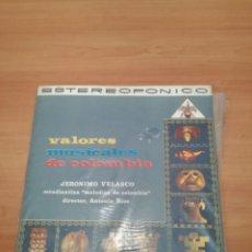 Discos de vinilo: JERÓNIMO VELASCO VALORES MUSICALES DE COLOMBIA. Lote 184062763