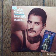 Discos de vinilo: FREDDIE MERCURY - LOVE KILLS (SOLO UNA CARA) - PROMOCIONAL. Lote 184077745