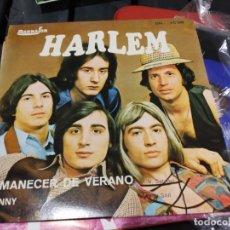 Discos de vinilo: SINGLE RARO HARLEM AMANECER EX/EX. Lote 184080175