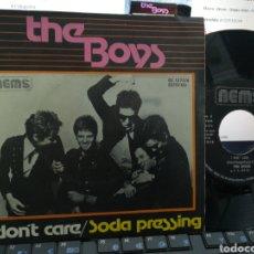Discos de vinilo: THE BOYS SINGLE I DON'T CARE ESPAÑA 1977. Lote 184100620