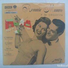 Discos de vinilo: SINGLE DECCA - RONNIE MUNRO Y SU ORQUESTA : LA GIOCONDA, SYLVIA, FAUSTO, LA SOURCE ... 1958. Lote 184105541
