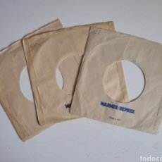 Discos de vinilo: FUNDAS SINGLE VINILO ORIGINALES. DISCOGRAFICA WARNER USA. Lote 184105551