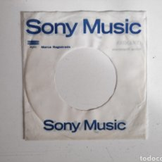 Discos de vinilo: FUNDA SINGLE VINILO ORIGINAL. DISCOGRAFICA SONY MEXICO. Lote 184106537