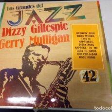 Discos de vinilo: DISCO LOS GRANDES DEL JAZZ NUMERO 42 DIZZY GILLESPIE, GERRY MULLIGAN. Lote 184112497