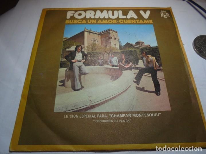 MAGNIFICO SINGLE ANTIGUO DE FORMULA V EDICION ESPECIAL PARA CHAMPAN MONTESQUIU (Música - Discos - Singles Vinilo - Grupos Españoles 50 y 60)