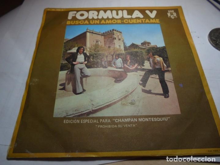 Discos de vinilo: magnifico single antiguo de formula V edicion especial para champan montesquiu - Foto 2 - 184116122