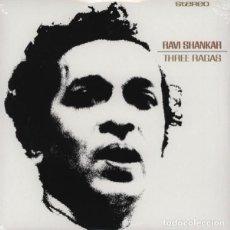 Discos de vinilo: RAVI SHANKAR - THREE RAGAS (LP 2013, DOXY DOZ422) NUEVO Y PRECINTADO. Lote 184118486