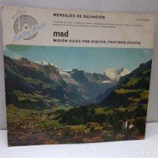 Discos de vinilo: DISCO 33 -MENSAJES DE SALVACION-SOLI DEO GLORIA EN FUNDA ORIGINAL . Lote 184129143