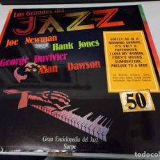 Discos de vinilo: DISCO LOS GRANDES DEL JAZZ NUMERO 50 JOE NEWMAN, HANK JONES, GEORGE DUVIVIER, ALAN DAWSON. Lote 184136051