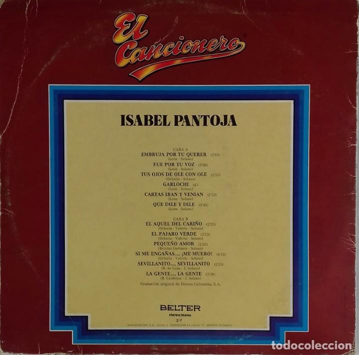 Discos de vinilo: LP Isabel Pantoja, colección El Cancionero - Foto 2 - 184136547