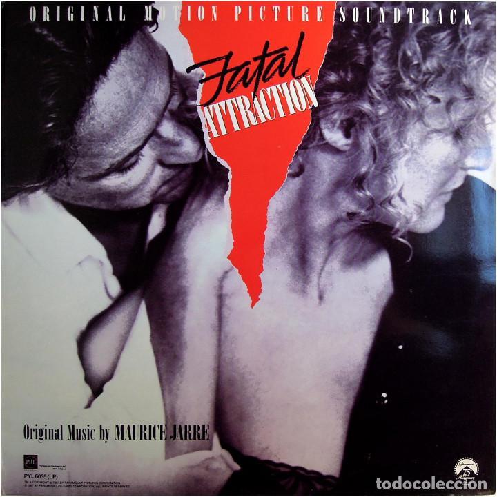 MAURICE JARRE - FATAL ATTRACTION (BSO) - LP UK 1987 - PRT RECORDS PYL6035 (Música - Discos - LP Vinilo - Bandas Sonoras y Música de Actores )