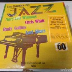 Discos de vinilo: DISCO LOS GRANDES DEL JAZZ NUMERO 60 MARY LOU WILLIAMS, CHRIS WHITE, RUDY COLLINS, EARL HINES. Lote 184139478