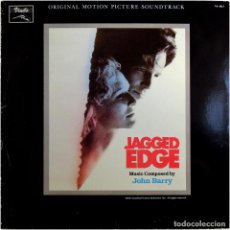 Discos de vinilo: JOHN BARRY - JAGGED EDGE (BSO) - LP SPAIN 1986 - VINILO VS-1013. Lote 184139768