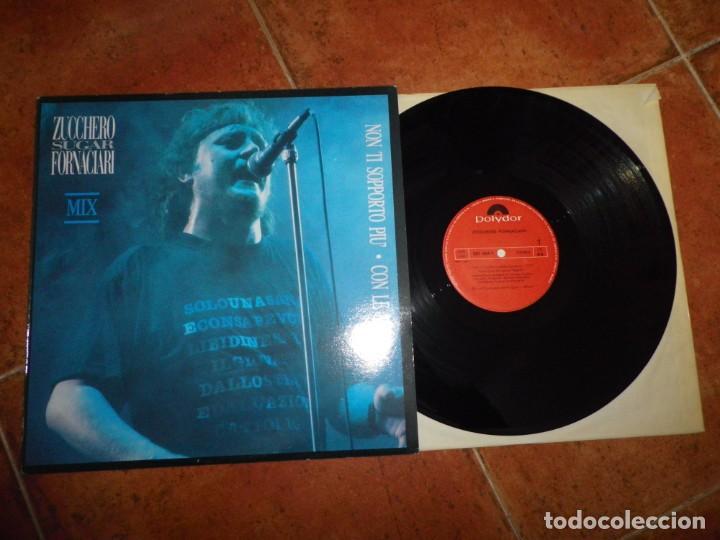 ZUCCHERO SUGAR FORNACIARI CON LE MANI MIX MAXI SINGLE VINILO DEL AÑO 1987 ESPAÑA CONTIENE 2 TEMAS (Música - Discos de Vinilo - Maxi Singles - Canción Francesa e Italiana)