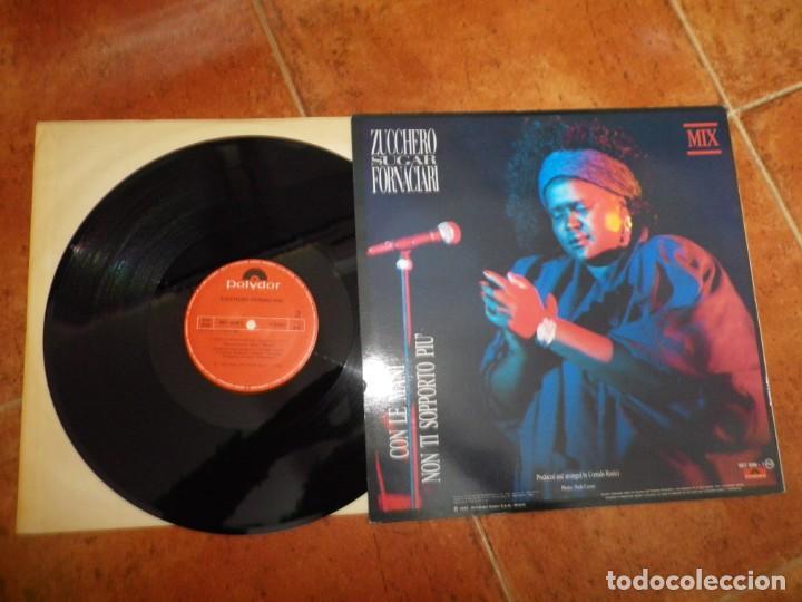 Discos de vinilo: ZUCCHERO SUGAR FORNACIARI Con le mani MIX MAXI SINGLE VINILO DEL AÑO 1987 ESPAÑA CONTIENE 2 TEMAS - Foto 2 - 184140921