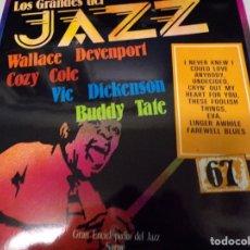 Discos de vinilo: DISCO LOS GRANDES DEL JAZZ NUMERO 67 WALLACE DEVENPORT, COZY COLE, VIC DICKENSON, BUDDY TATE. Lote 184141495