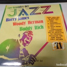 Discos de vinilo: DISCO LOS GRANDES DEL JAZZ NUMERO 71 HARRY JAMES, WOODY HERMAN, BUDDY RICH. Lote 184142195
