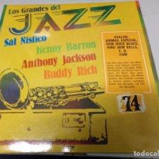 Discos de vinilo: DISCO LOS GRANDES DEL JAZZ NUMERO 74 SAL NISTICO, KENNY BARRON, ANTHONY JACKSON, BUDDY RICH. Lote 184142410