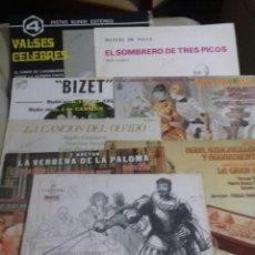 Discos de vinilo: LOTE 8 DISCOS ZARZUELA Y OTROS.. Lote 184145765