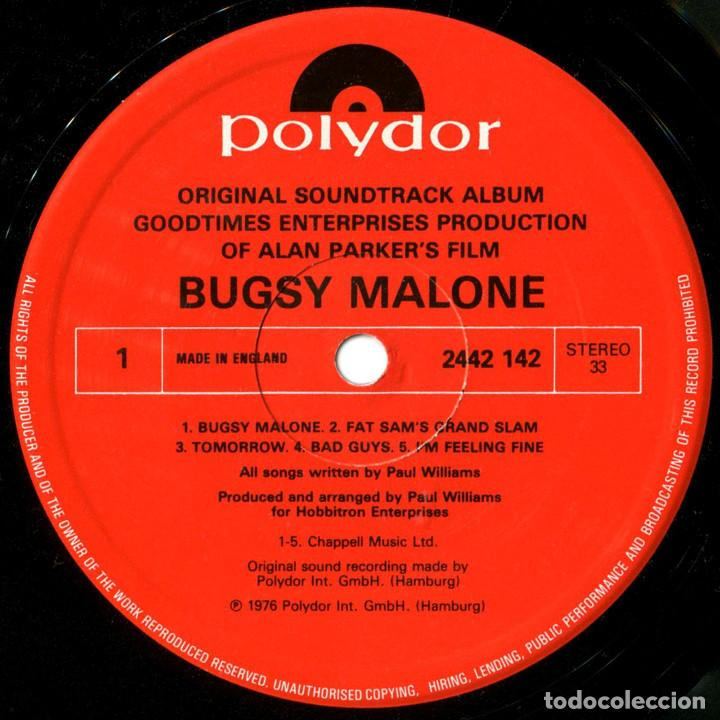 Discos de vinilo: Paul Williams - Bugsy Malone (BSO) - LP UK 1976 - Polydor 2442 142 - Foto 3 - 184145887