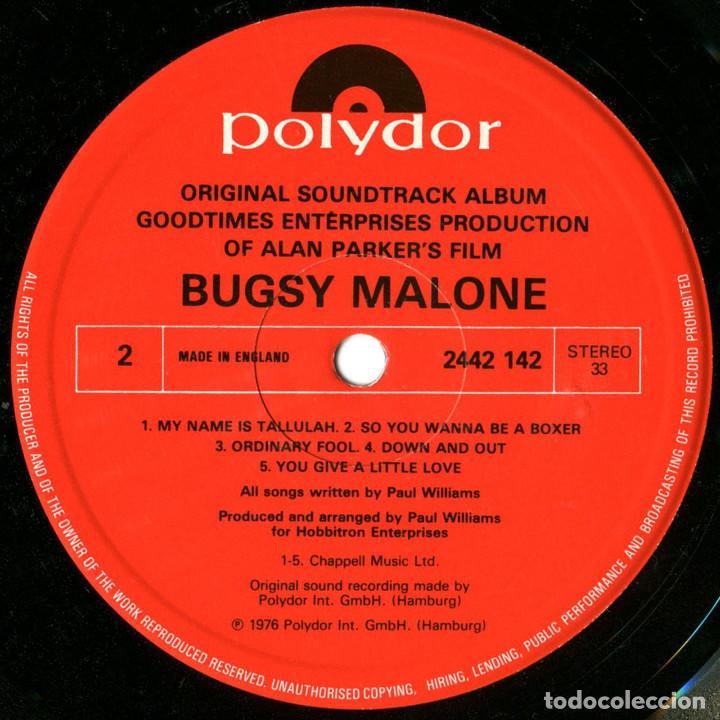 Discos de vinilo: Paul Williams - Bugsy Malone (BSO) - LP UK 1976 - Polydor 2442 142 - Foto 4 - 184145887