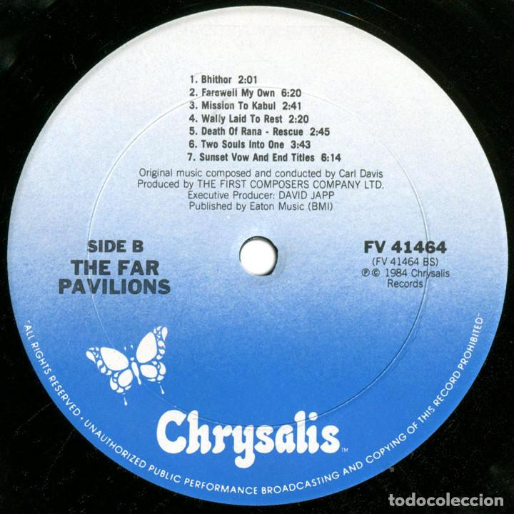 Discos de vinilo: Carl Davis - The Far Pavilions (BSO) - Lp US 1984 - Chrysalis FV 41464 - Foto 4 - 184142182