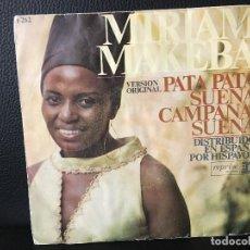 Discos de vinilo: DISCO SINGLE MIRIAM MAKEBA, PATA PATA, SUENA CAMPANA SUENA, REPRISE RECORDS. Lote 184165473