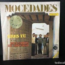 Discos de vinilo: DISCO SINGLE MOCEDADES, ERES TU , RECUERDOS DE MOCEDAD, NOVOLA. Lote 184166061