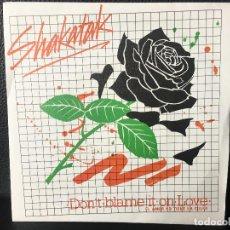 Discos de vinilo: DISCO SINGLE SHAKATAK, EL AMOR NO TIENE LA CULPA, DONT BLAME IT ON LOVE, POLYDOR. Lote 184169503