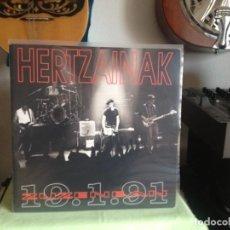 Discos de vinilo: HERTZAINAK -ZUZENEAN 1991 / DOBLE LP (2LP'S) AKETO 1991- NUEVO SIN USAR. Lote 184172395