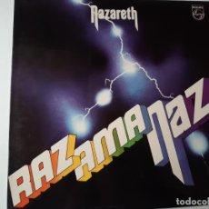 Discos de vinilo: NAZARETH- RAZAMANAZ - SPAIN LP 1990 - VINILO COMO NUEVO.. Lote 184194235
