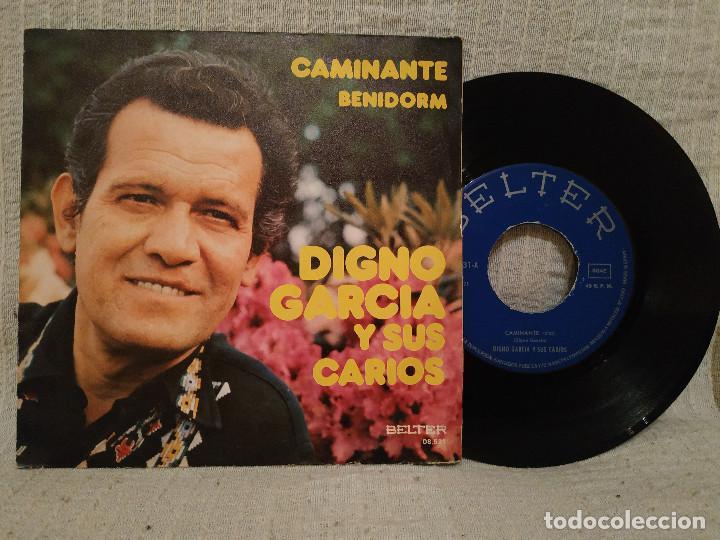 DIGNO GARCIA Y SUS CARIOS - CAMINANTE / BENIDORM - SINGLE ESPAÑOL DE 1975 (Música - Discos - Singles Vinilo - Grupos y Solistas de latinoamérica)