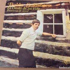 Discos de vinilo: BOBBY GOLDSBORO. EL OTOÑO DE MI VIDA / PROMESA DE AMOR. HISPAVOX 1968.. Lote 184214373