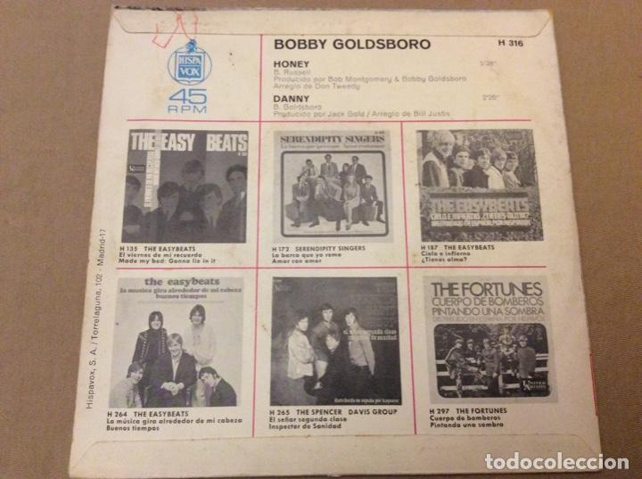 Discos de vinilo: BOBBY GOLDSBORO - HONEY / DANNY. UA RECORDS 1968. - Foto 2 - 184218937