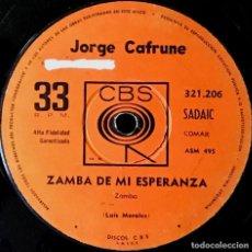 Discos de vinilo: SENCILLO ARGENTINO DE JORGE CAFRUNE AÑO 1964. Lote 184226267